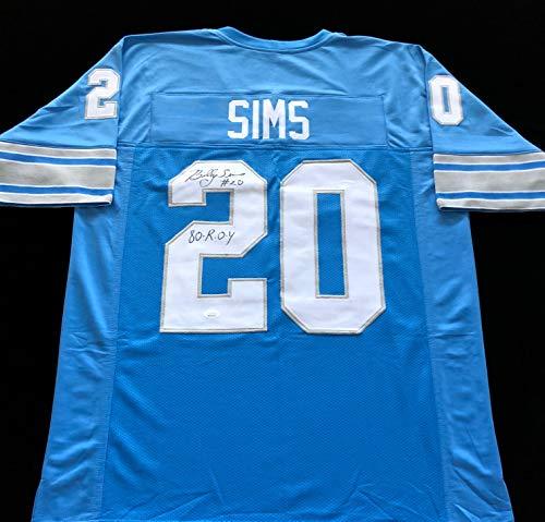 Billy Sims Detroit Lions Signed Autograph Jersey JSA COA