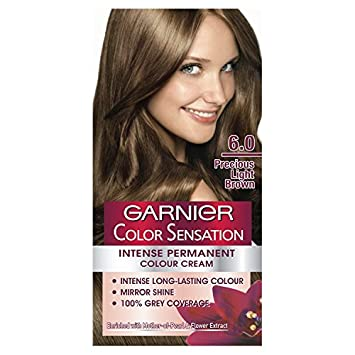 Garnier Color Sensation 60 Precious Light Brown Permanent Hair Dye
