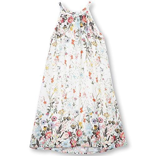 Speechless Girls' Big Sleeveless Shift Dress, Ivory Floral -