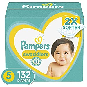 Diapers Size 5, 132 Count – Pampers Swaddlers Disposable