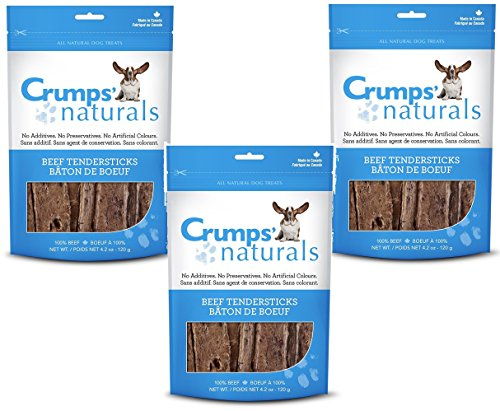 (3 Pack) Crumps' Naturals Beef Tender Sticks for Pets 8.8oz