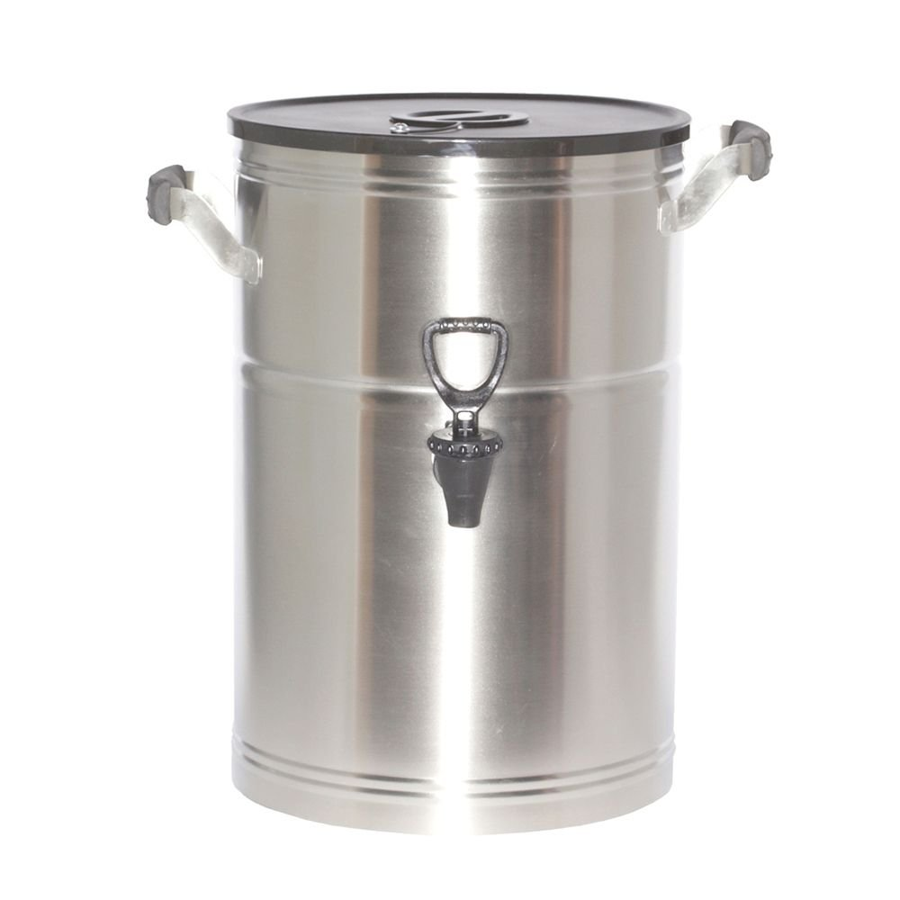 Service Ideas ITS3GPL Round Tea Urn, 3 Gallon (384 oz.), Brushed Stainless Steel