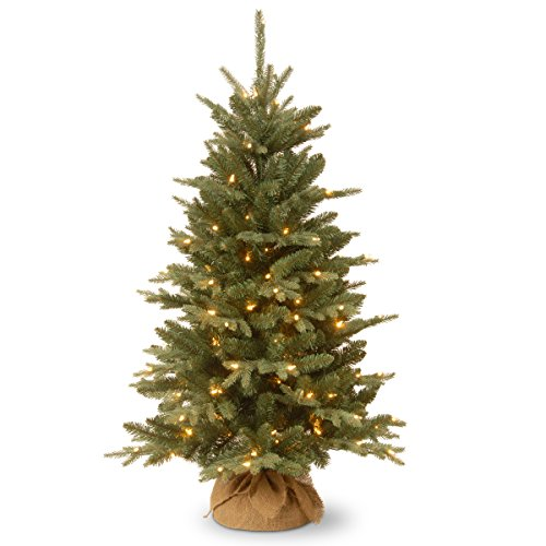 National Tree 4 Foot Burlap Tree with 150 Clear Lights (ED3-300-40) - Little Christmas Tree Company