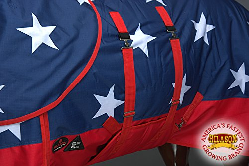 HILASON 78'' 1200D Waterproof Winter Horse Blanket Neck Cover Belly WRAP US Flag by HILASON (Image #5)