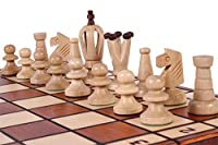ChessCentral the Perun Unique Wood Chess Set, Pieces, Chess Board and Storage