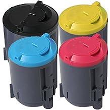 4 Inktoneram® Replacement toner cartridges for Samsung CLP-300 Toner Cartridges CLP-K300B CLP-C300B CLP-M300B CLP-Y300B replacement for Samsung CLP300 Combo Set CLP-300 CLP-300N CLX-2160N CLX-3160N