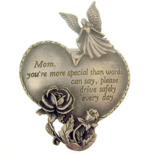 ecial Heart with Guardian Angel and Rose Visor Clip, 2 1/2 Inch (Youre Special Hearts)