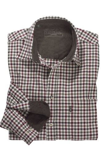 VEDONEIRE Herren Schwerer Winter Baumwolle Shirt - Beige Braun Grün Farbe (2280 Country Green) Größe M bis 3XL