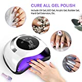 120W LED Nail Lamp, Easkep Faster Nail Dryer for