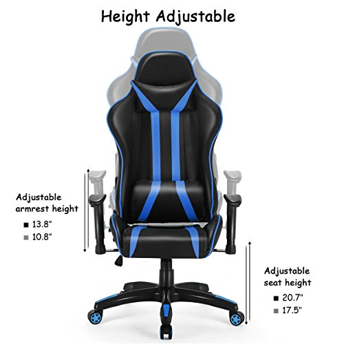 51jx25ADr6L - Giantex-Swivel-Gaming-Executive-Chair-Office-Reclining-High-Back-Computer-Desk-Task-Racing-Chair-w-Lumbar-Support-and-Headrest