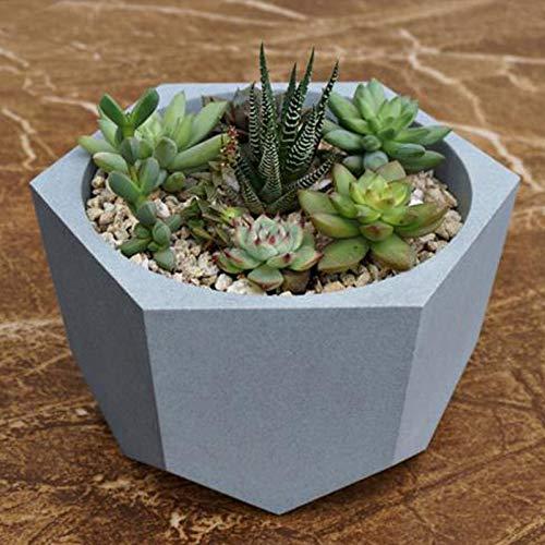 Concrete Planter Best Quality - Clay Molds - Creative Polygon vase Concrete Planter Mold Handmade Craft DIY Handmade Decoration Geometry Cement Flowerpot Silicone molds - by GTIN - 1 PCs