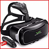 VR headset / Virtual Reality headset / VR glasses / VR goggles with Remote Controller for iPhone 7 6 5 7 Plus 6 Plus Google Android mobile Samsung Galaxy s7 edge s7 s6 s5 Note best for 3D movies games