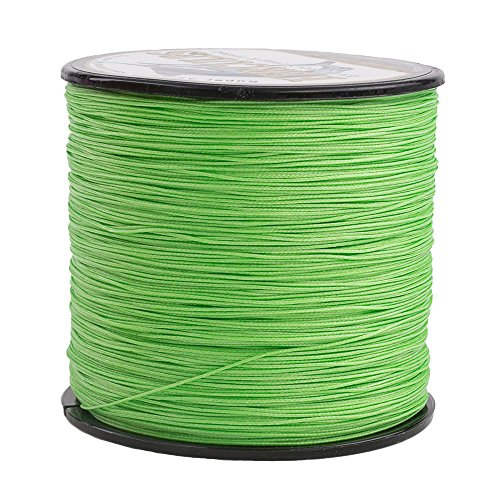 HERCULES Super Cast 500M 547 Yards Braided Fishing Line 80 LB Test for Saltwater Freshwater PE Braid Fish Lines Superline 8 Strands - Fluorescent Green, 80LB (36.3KG), 0.48MM