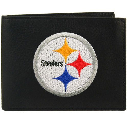 Football Jersey Nfl Black Genuine - Rico Pittsburgh Steelers Embroidered Leather Billfold Wallet