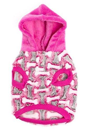 Pink Bone Fleece Hoodie Xs