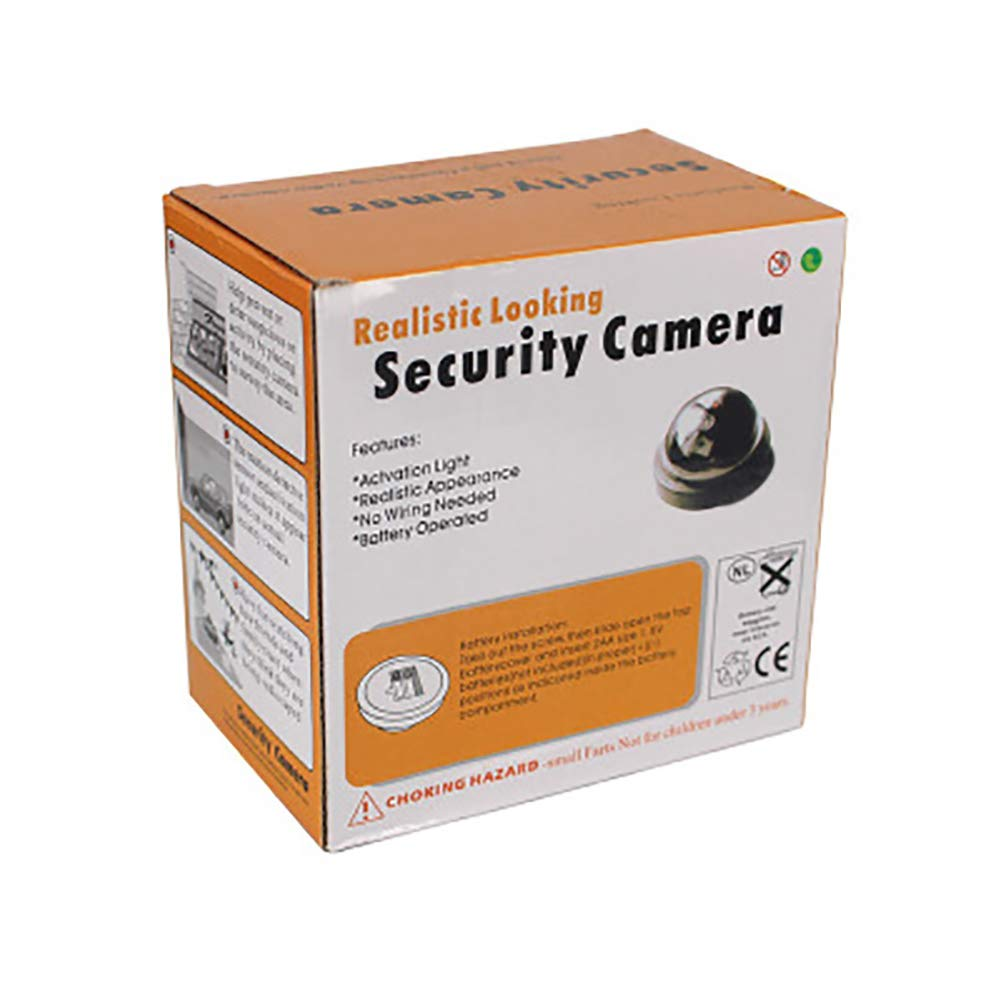 QLPP Dummy camer, Fake Security Camera, CCTV Fake Dome Camera,with Flashing Red LED Light,Installed in House, Shopping Mall, Restaurant,4pack by QLPP (Image #7)