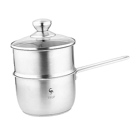 FLAMEER Cacerola De Utensilios De Cocina De Acero Inoxidable Pan Pot Cocina De Leche Cook 17