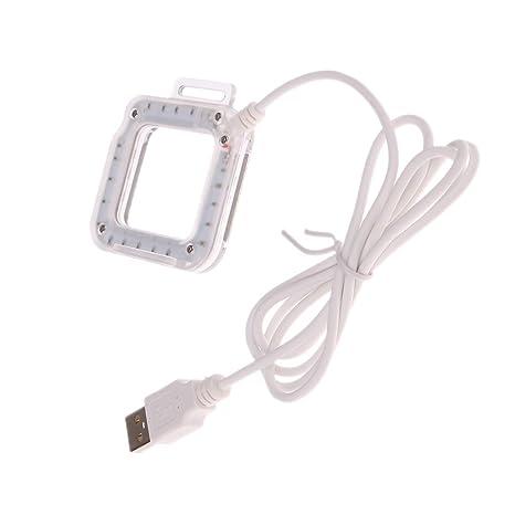 Gazechimp 1x Linterna con Cinturón Electrónica de Consumo Ordenador Cámara 20 Luces de Anillo LED Compatibilidad