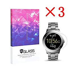 3 Pack Fossil Q Founder Smartwatch Screen Protector ,Fossil Q Founder Gen 2 Screen Tempered Glass Protector 0.3mm Slim,anti-scratch, Anti-fingerprint