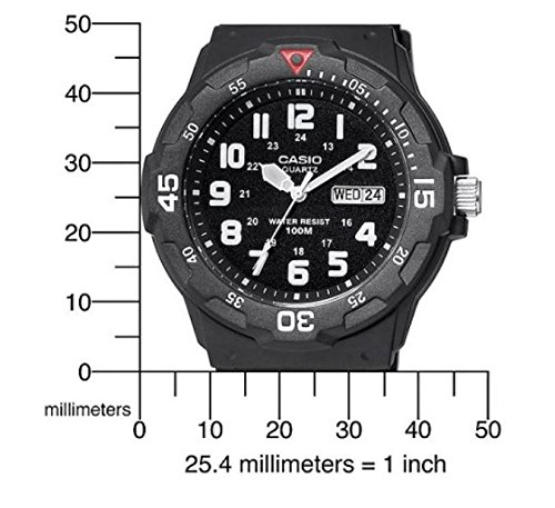 Casio EAW-MRW-200H-1BV Men's MRW200H-1BV Black Resin Dive Watch