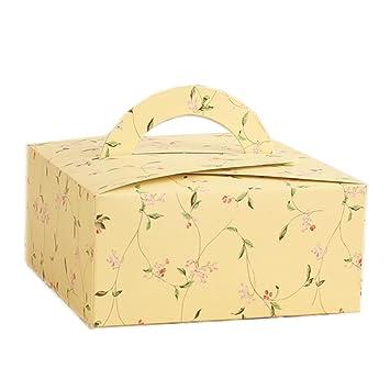 Backen Paket 50 G Mondkuchen Paket Box Kann Halten 4 Gelb Blumen