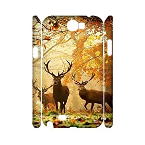 AKERCY Deer Phone 3D Case For Samsung Galaxy Note 2 N7100 [Pattern-5]