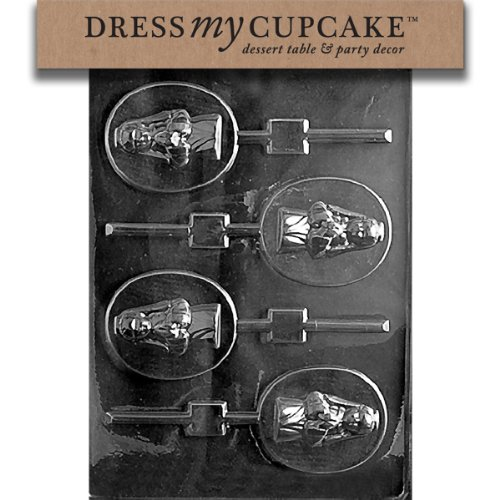 Dress My Cupcake DMCR045 Chocolate Candy Mold, Girl Communion Lollipop]()