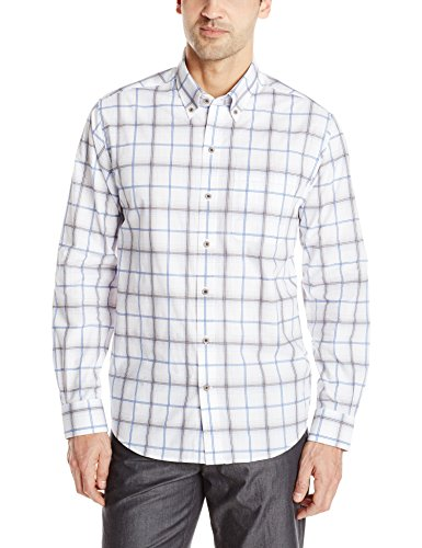 Cutter & Buck Men's Long Sleeve Tidal Check Shirt, Multi, XX-Large