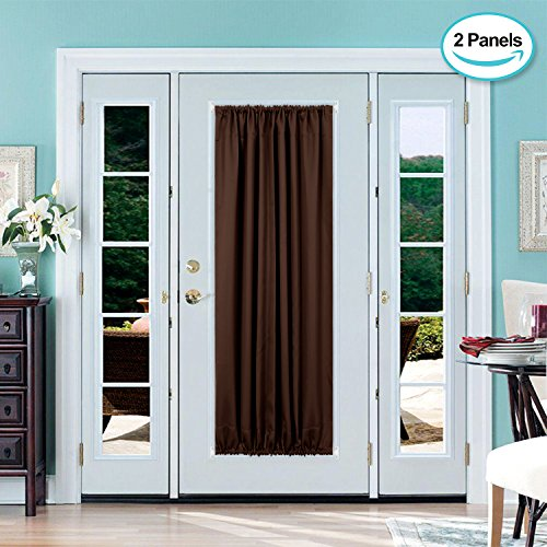Deconovo French Door Panel Shade Blackout Thermal Curtains