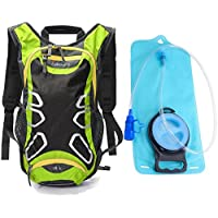 Juboury 15L Hydration Backpack with Free 2L Water Bladder Reservoirs (Green)
