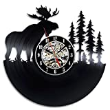 Elk Forest Gift Wall Clock Vinyl Record Art Decor Vintage Review