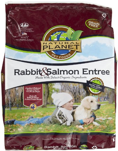 Natural Planet Organics Rabbit & Salmon Entree Dry Dog Food 25 lb