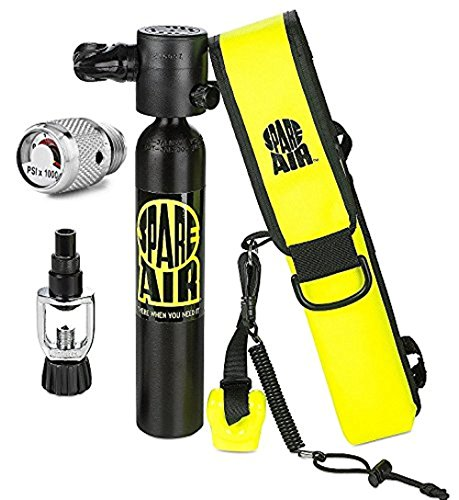 Spare Air Diving - Spare Air New 3.0CF Package for Scuba Divers With Dial Gauge Upgrade, Fill Adapter, Holster, Leash