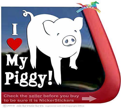 I Love My Piggy! - Pig Car Truck Window Decal Sticker