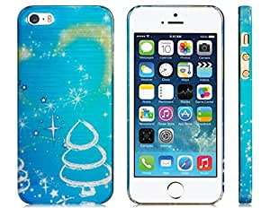 Stunning Wiredrawing Plastic Back Cover Case for iPhone 5/5S (Blue)