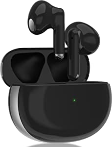 FICJEAD Wireless Earbuds Bluetooth 5.1 Game Headphones Noise Cancelling Stereo Earpods Fast Charging in-Ear Ear Buds Headset IPX6 Waterproof Air Buds Earphones, for iPhone/Android/Samsung Earbuds