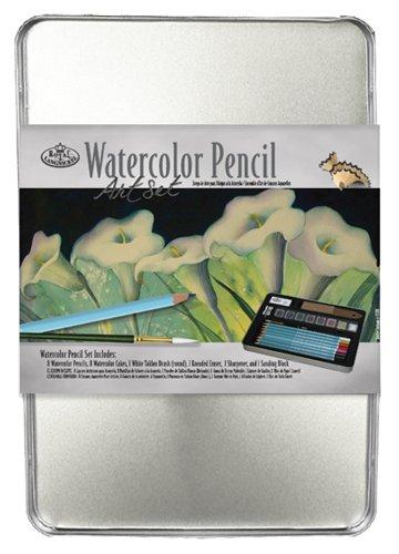 Royal & Langnickel Medium Tin Watercolor Pencil Art Set Langnickel Watercolor Pencil