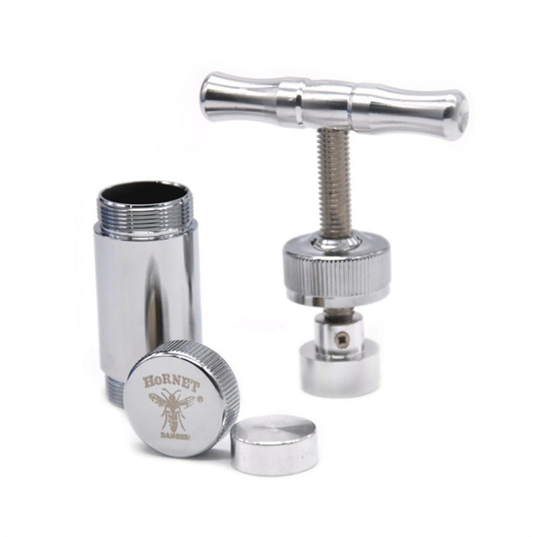 Hornet Metal Aluminum Presser Compressor Herb Grinder Spice T Pollen Press Crusher Garlic Salt Pepper Crusher Press Heavy Duty