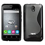 Heartly Thin Premium S-Line Soft Flexible TPU Matte Rugged Bumper Back Case Cover For Micromax Bolt Q335 - Rugged Black