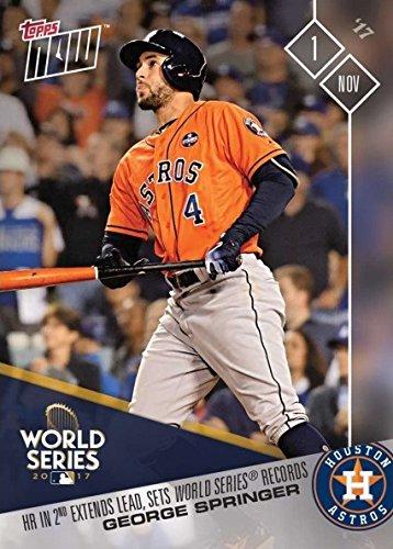 2017 Topps Now #859 George Springer Breaks Multiple World Series Records for Houston Astros Baseball Card - Only 2,169 made! (Topps Houston Astros Baseball Card)
