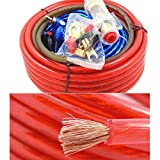 Eaglerich 1500W Car Audio Wire Wiring Amplifier Subwoofer Speaker Installation Kit 8GA Power Cable 60 AMP Fuse Holder