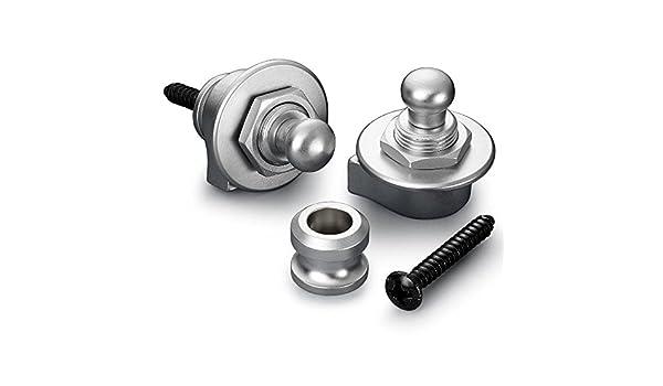 Amazon.com: SECURITY LOCK GUITARRA ELECTRICA - Schaller (448) Security Lock (Cromo Satinado): Musical Instruments