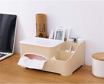 Xiaocc - Caja organizadora multifuncional, caja organizadora de pañuelos para mandos a distancia: Amazon.es: Belleza