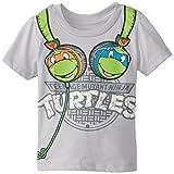 Teenage Mutant Ninja Turtles Little Boys' Tent Headphones T-Shirt, Grey, 2T