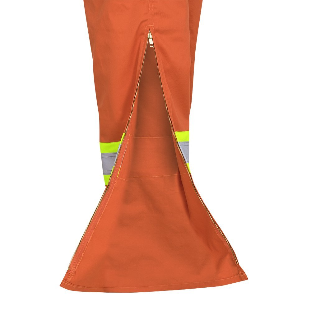 Tall Fit Industrial Wash Pioneer Easy Boot Access /& Action Back CSA High Visibility Work Coverall Orange 50 V202151T-50