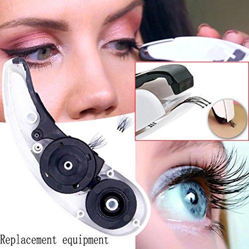 Exteren Replacement of Eyelash Stapler Mini False Lashes Contains 45 Clusters Eyelashe Fake Eyelashes Lashes Extension (Black)
