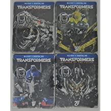 Transformers 1-4: Transformers, Revenge of the Fallen, Darkside of the Moon and Age of Extinction Exclusive Steelbooks