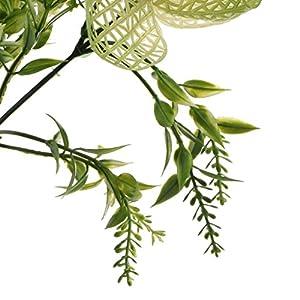 Homyl Bunch Artificial Plants Seaweed Garden Wedding Decor Phalaenopsis/Vine/ Persian Grass/Perilla Leaves/Staghorn Fern/Sago Cycas Leaves/Air Grass 4