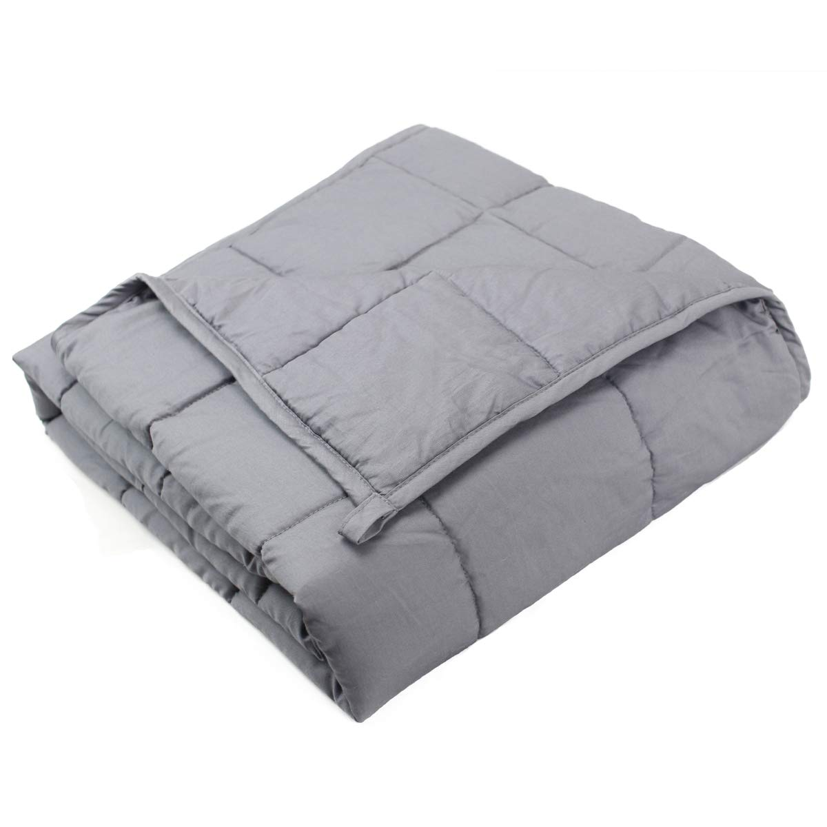 Dreambeauty Weighted Blanket (48''x72'',15lbs for 120-180 lbs Individual, Grey) 丨100% Cotton with Glass Beads丨Great Sleep for Adults,Youths Grey) 丨100% Cotton with Glass Beads丨Great Sleep for Adults Qingdao Feiyang Co. Ltd