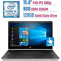 HP 15.6-inch FHD Touchscreen (1920x1080) IPS 2-in-1 Convertible Laptop PC, Intel Core i5-7200U, 8GB DDR4 SDRAM, 128GB SSD, Bluetooth, HDMI, B&O PLAY, AMD Radeon 530, Stylus, Windows 10